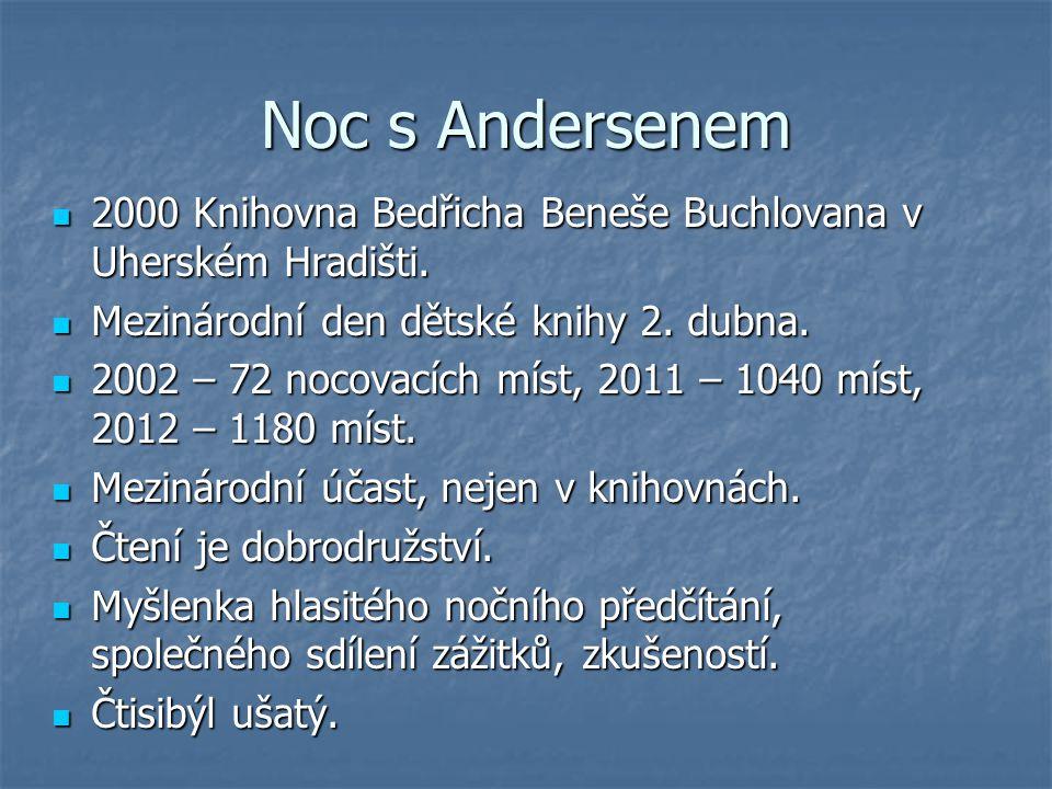 Noc s Andersenem 2000 Knihovna Bedřicha Beneše Buchlovana v Uherském Hradišti. 2000 Knihovna Bedřicha Beneše Buchlovana v Uherském Hradišti. Mezinárod