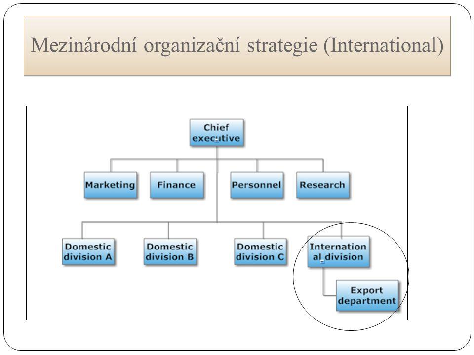 Mezinárodní organizační strategie (International)