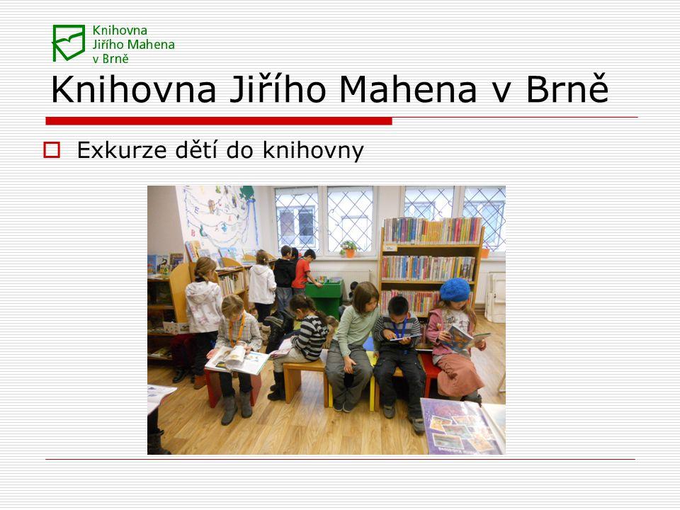 Knihovna Jiřího Mahena v Brně  Exkurze dětí do knihovny