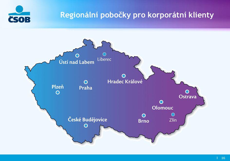 l 16 Regionální pobočky pro korporátní klienty