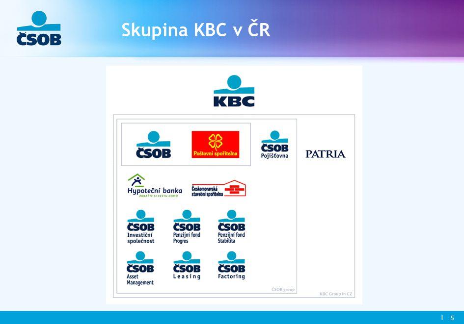l 5 Skupina KBC v ČR