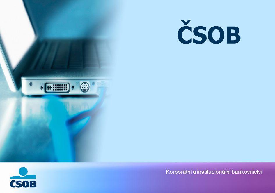 Korporátní a institucionální bankovnictví ČSOB
