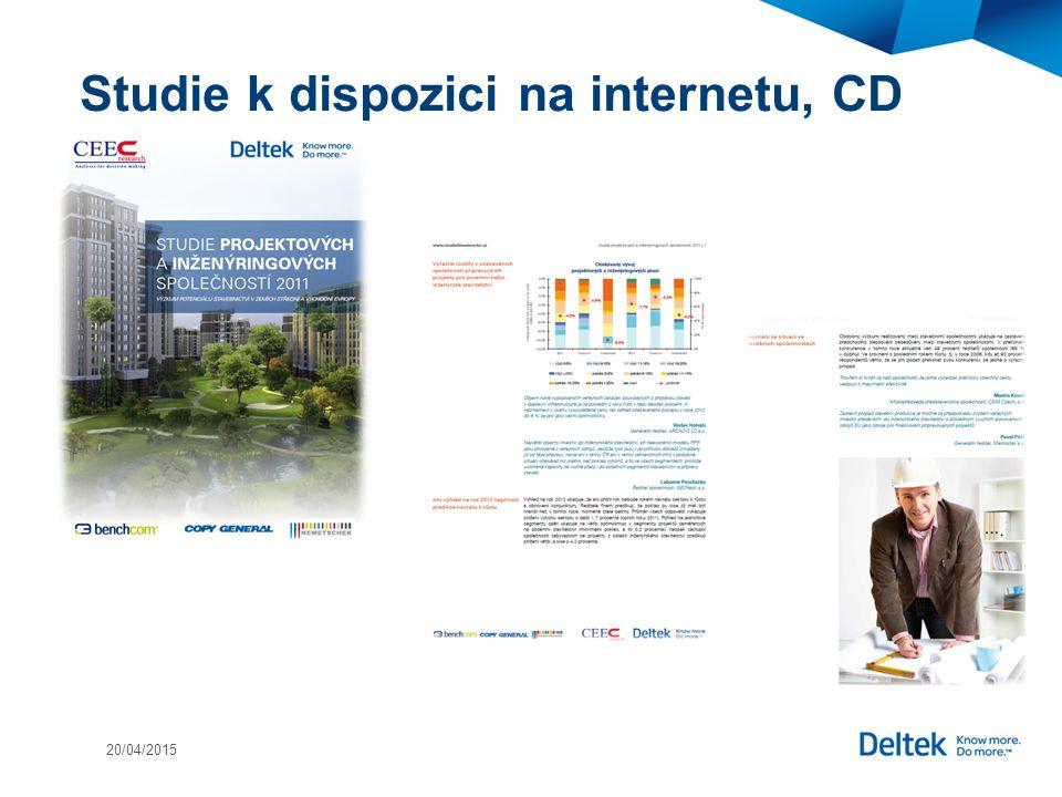 Studie k dispozici na internetu, CD 20/04/2015