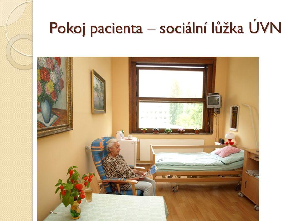 Pokoj pacienta – sociální lůžka ÚVN