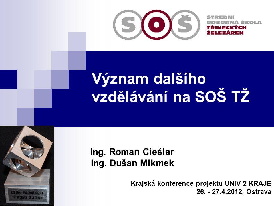 Význam dalšího vzdělávání na SOŠ TŽ Ing.Roman Cieślar Ing.