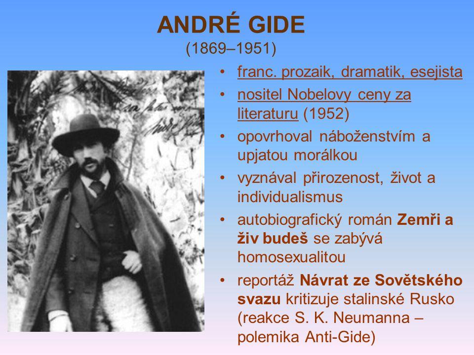 ANDRÉ GIDE (1869–1951) franc.