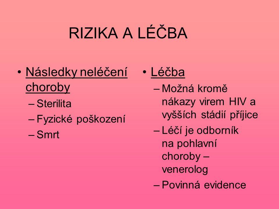 Kapavka –Gonokok – vyvolává hnisavý zánět močového a pohlavního ústrojí, často postihuje konečník a oční spojivku –Nejdéle známá nemoc –Léčí se antibiotiky –Neléčená může způsobit neplodnost mužů i žen Autor neuveden,8.12.2011 http://upload.wikimedia.org/wikipedia/commons/2/29/Neisseria_gonorrhoeae_02.png
