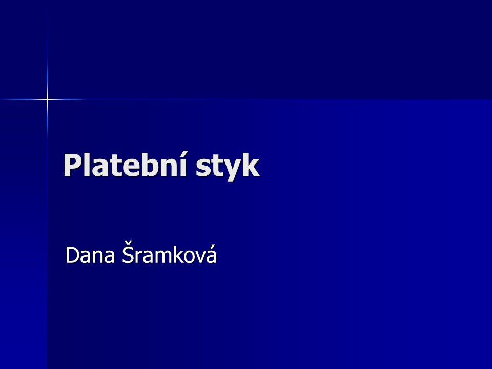 Platební styk Dana Šramková