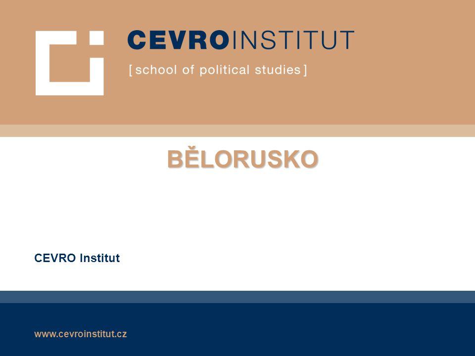 www.cevroinstitut.cz Běloruská republika  Rozloha: 207 600 km²  Obyvatelstvo: +- 10.000.000  80% Bělorusů  menšiny Rusů, Poláků a Ukrajinců  Hl.