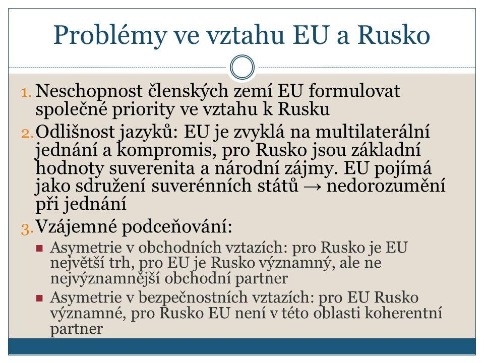 Problémy ve vztahu EU a Rusko 1.