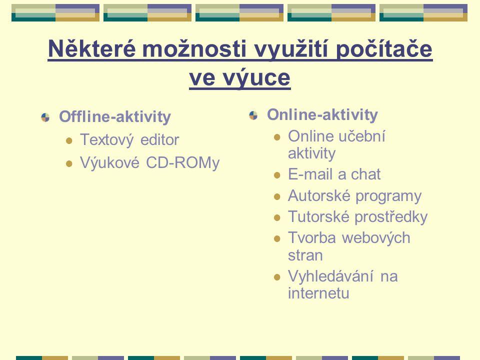 Přednosti využití internetu Poskytuje autentické učební zdroje.