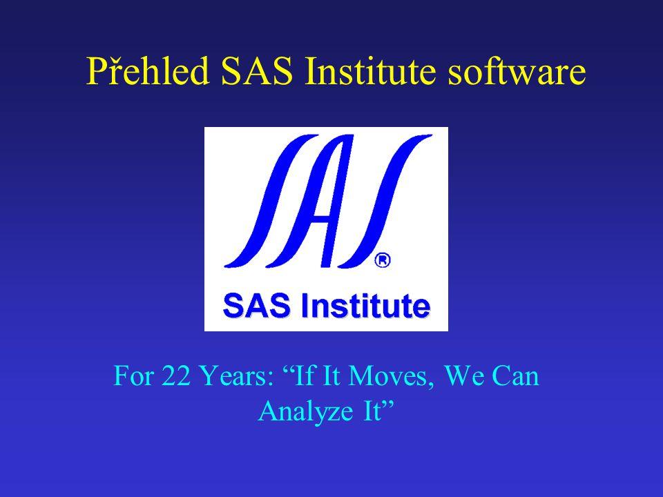 11/98SAS Institute software12  Lidé dělají obchodní závěry na základě srovnávání nikoliv na základě absolutních hodnot  Srovnávání se nejlépe provádí na základě přirozených obchodních dimenzí OLAP -Multidimenzionální analýza Zákazník Typ zákazníka Všichni zákazníci Výrobek Všechny výrobky Skupina výrobků Výrobek Prodej Zákazník Manažer DIvize Celkem Čas Měsíc Rok Distribuce Sklad Všechny sklady Území Město Okres KrajStát