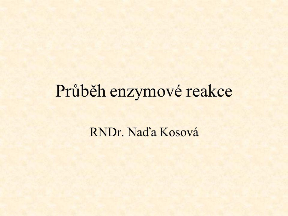 Průběh enzymové reakce RNDr. Naďa Kosová