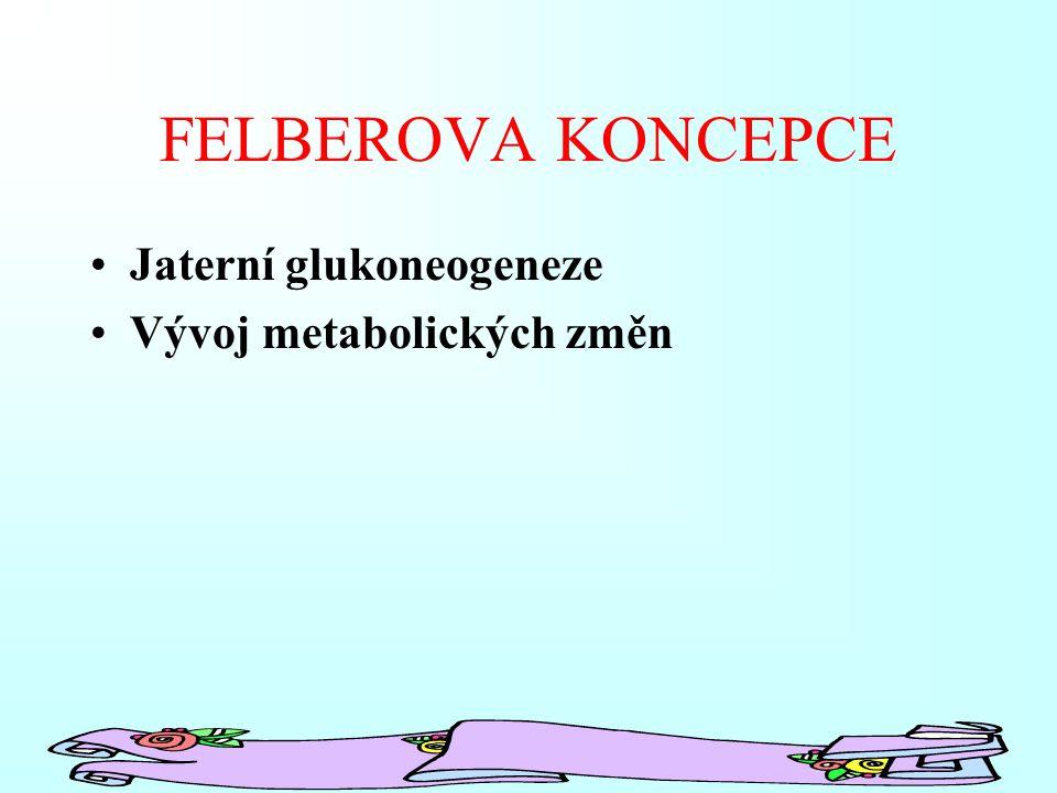 FELBEROVA KONCEPCE Jaterní glukoneogeneze Vývoj metabolických změn