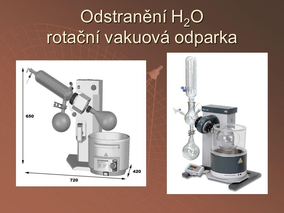 Odstranění H 2 O rotační vakuová odparka
