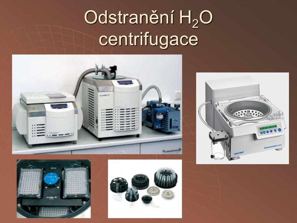 Odstranění H 2 O centrifugace