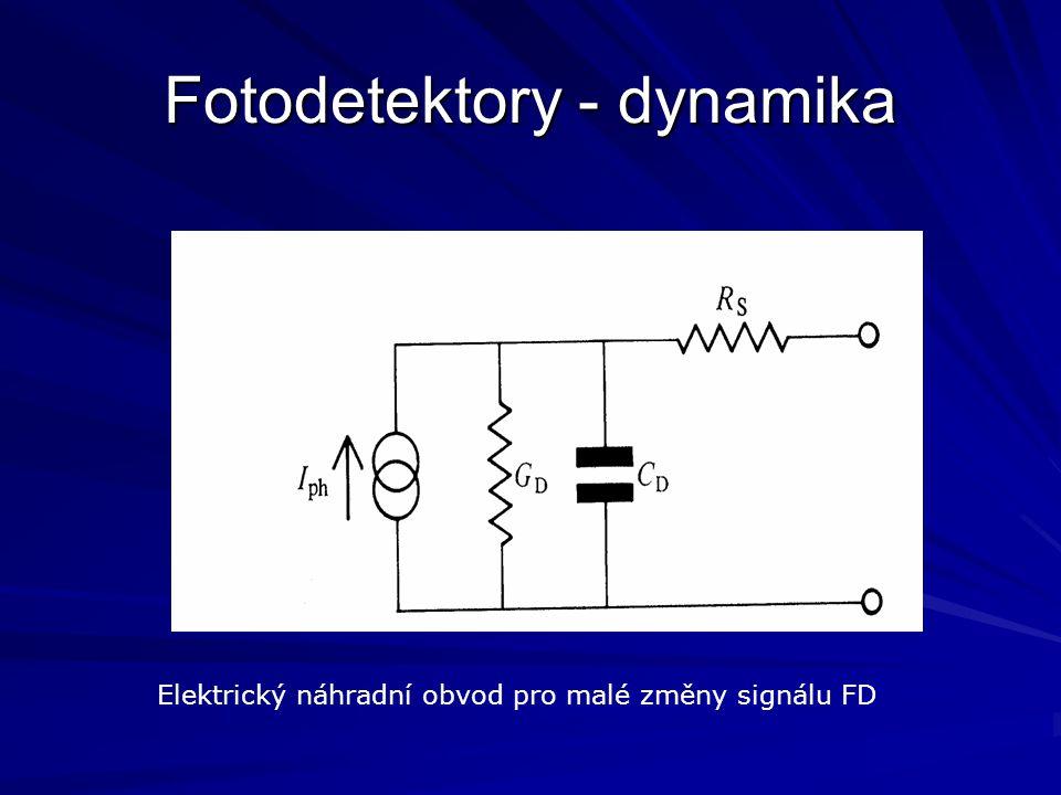 Fotodetektory - dynamika Elektrický náhradní obvod pro malé změny signálu FD