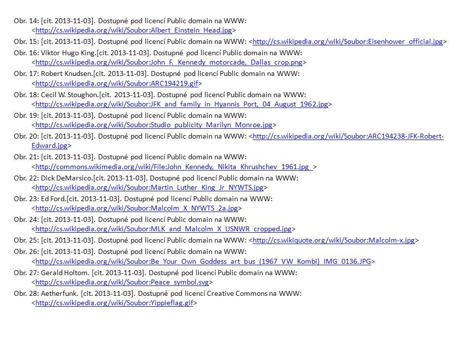 Obr. 14: [cit. 2013-11-03]. Dostupné pod licencí Public domain na WWW: http://cs.wikipedia.org/wiki/Soubor:Albert_Einstein_Head.jpg Obr. 15: [cit. 201
