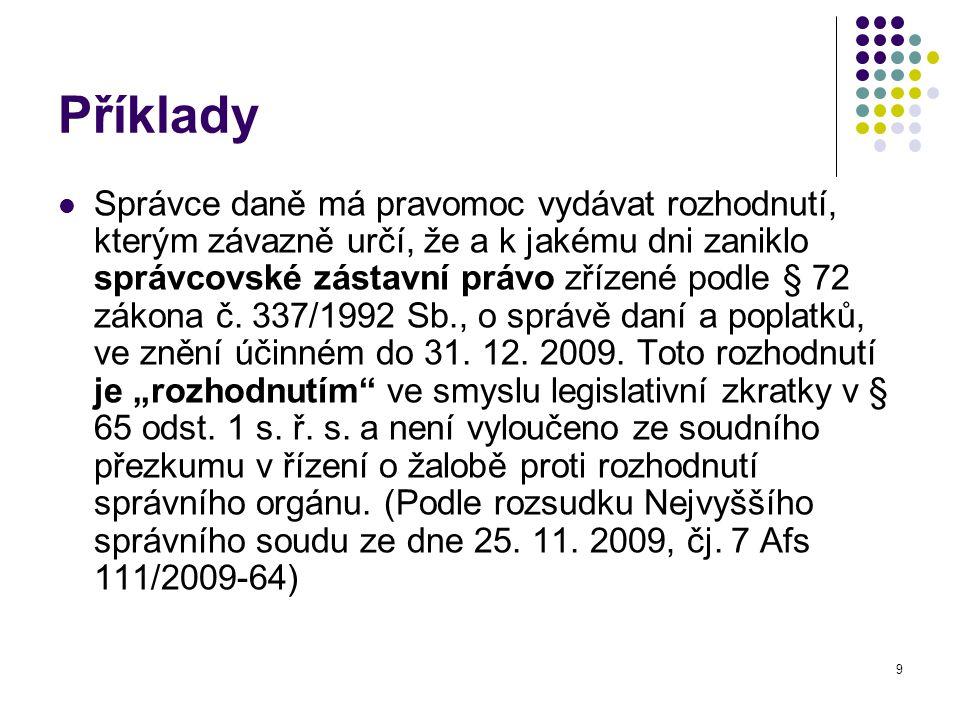 20 K nicotnosti – klíčový judikát NSS č.j.6 A 76/2001-96: I.