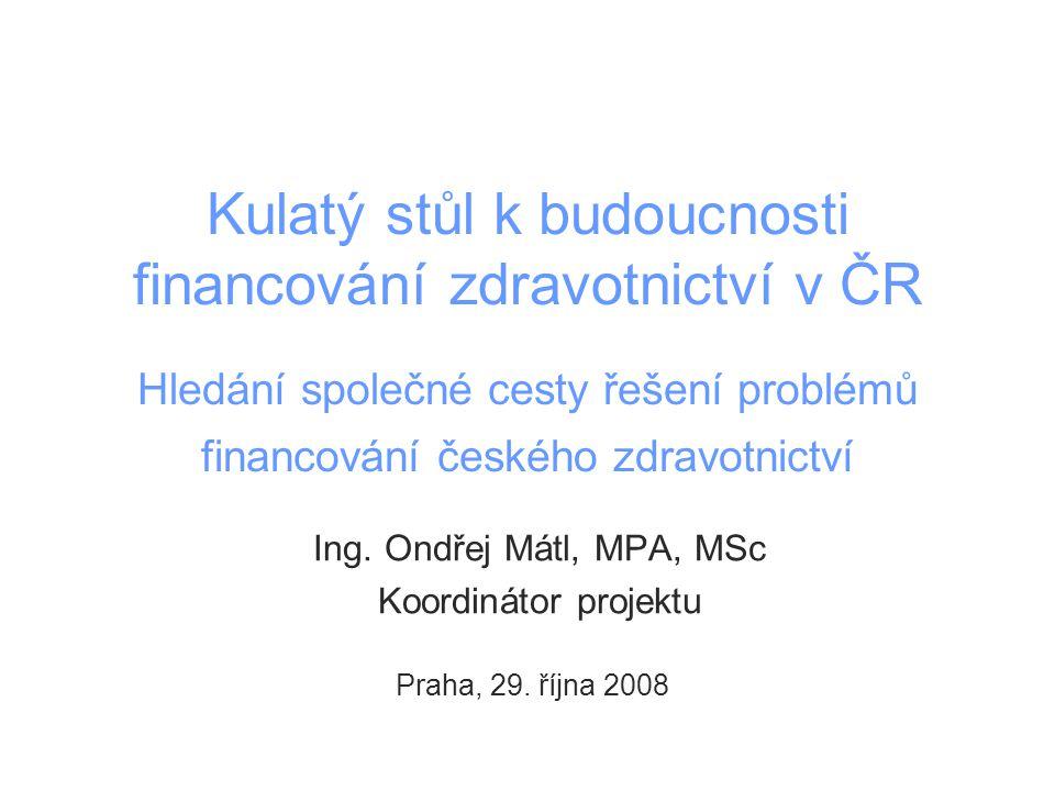 Základní informace o projektu Kulatý stůl Ustavení, poslání a postavení projektu Projekt iniciován vládou České republiky na základě usnesení ze dne 11.