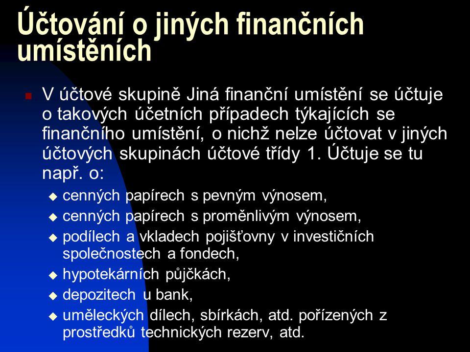 Pojišťovna nakupuje převodem z bankovního účtu akcie společnosti Fido, a.s. v hodnotě 50 000 000 Kč, které zakládají 5% podíl pojišťovny na ZK společn