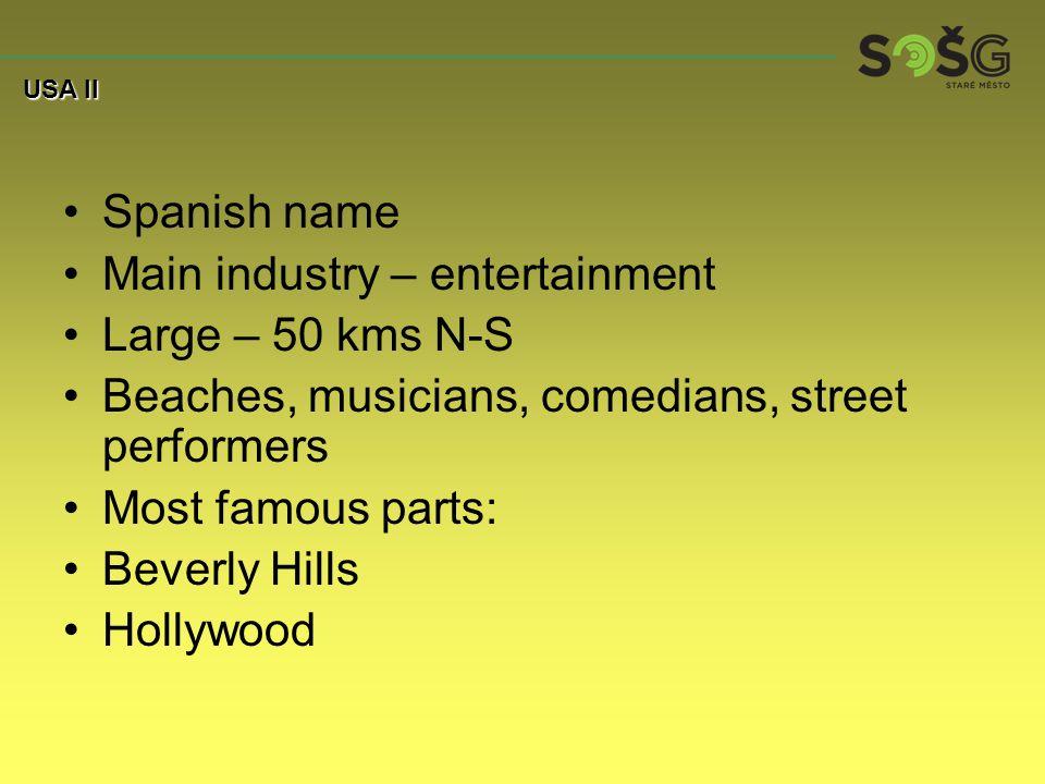 ´Desert´city Spanish name (stars) Cher, Elvis Presley The Strip – main street 7 kms long Lights on 247 Fun, gambling, shows, theatres Casinos, strip bars, hotel, night clubs No clock or windows USA II