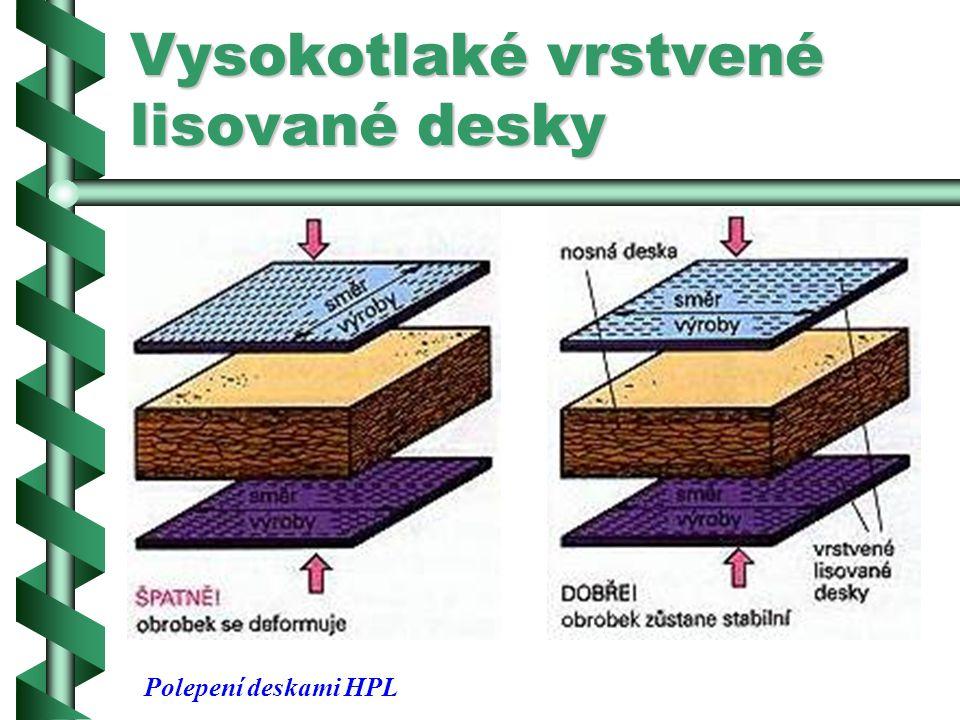 Vysokotlaké vrstvené lisované desky Kromě toho je třeba u vrstvených lisovaných desek určit tepelnou roztažnost a smršťování dotvrzováním syntetických