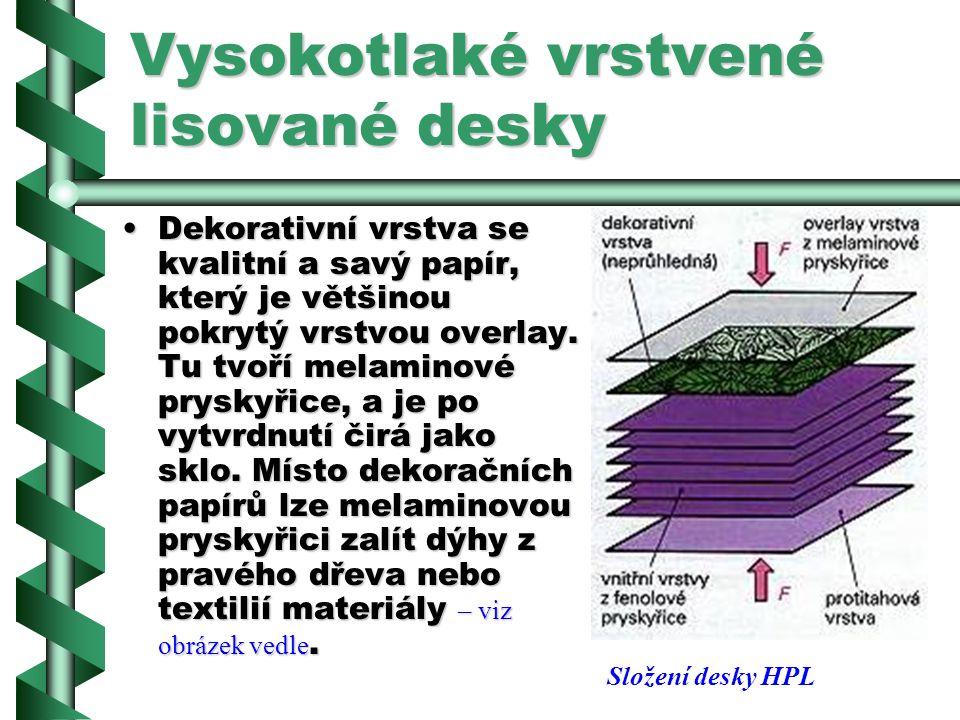 Vysokotlaké vrstvené lisované desky Polepení deskami HPL