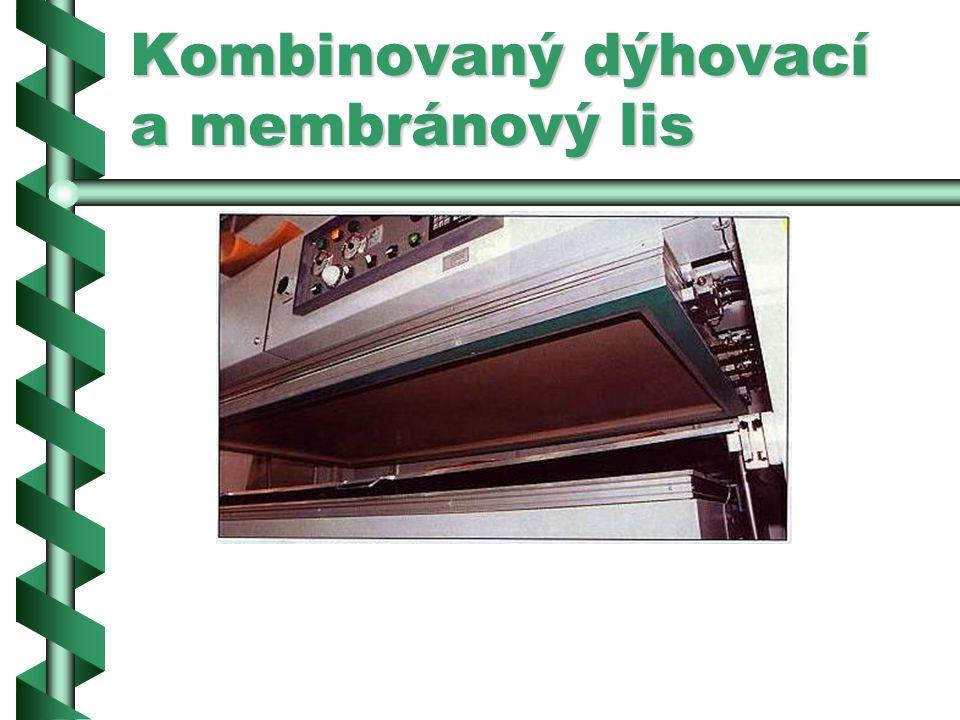 Kombinovaný dýhovací a membránový lis