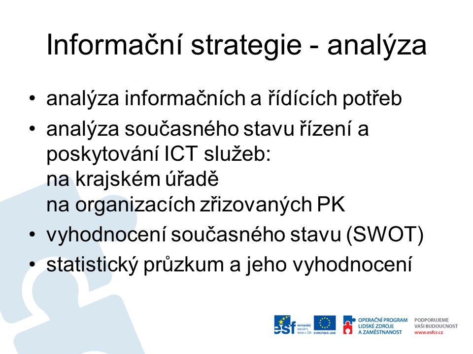 Informační strategie - analýza analýza informačních a řídících potřeb analýza současného stavu řízení a poskytování ICT služeb: na krajském úřadě na o