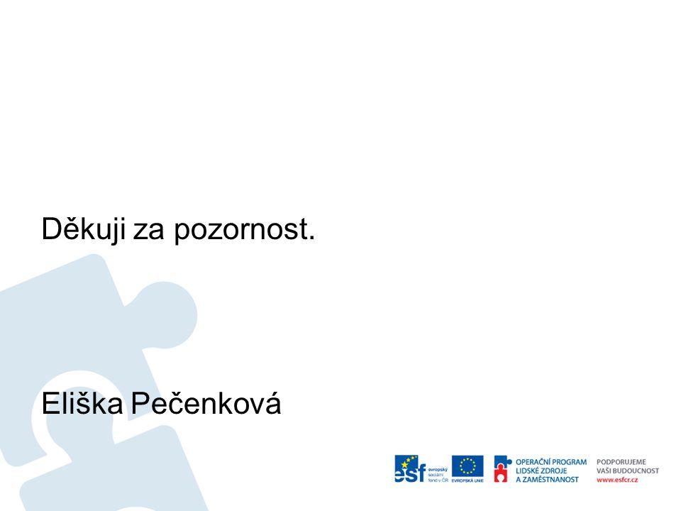 Děkuji za pozornost. Eliška Pečenková