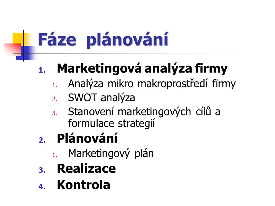 Marketingové plánování