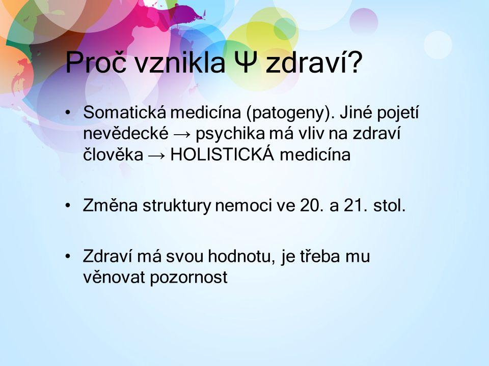 Proč vznikla Ψ zdraví.Somatická medicína (patogeny).