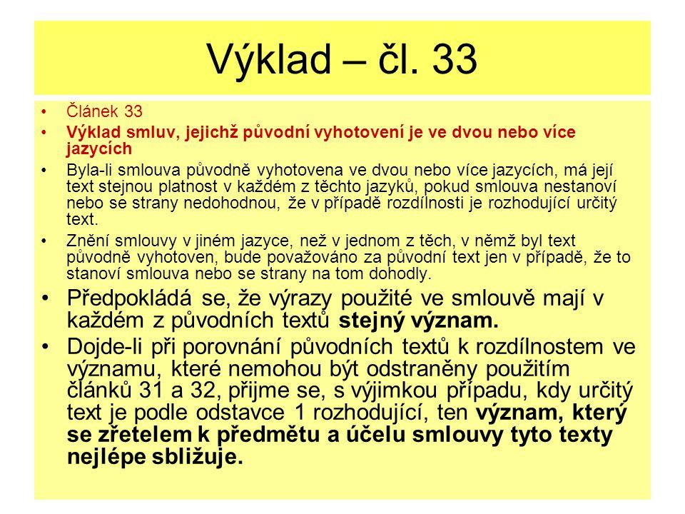 Výklad – čl.