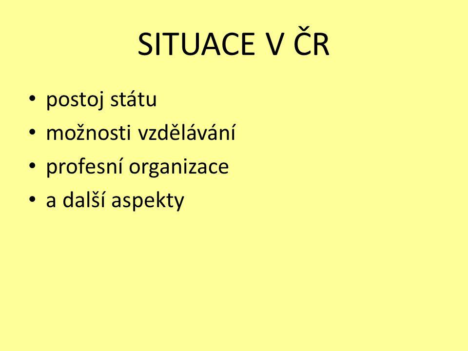 Vzdělání Samostatný studijní obor – pozitivní následek: studentské práce – Holkupová, Kotašová,…
