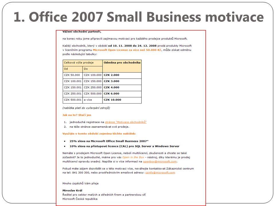 2. Open licence motivace
