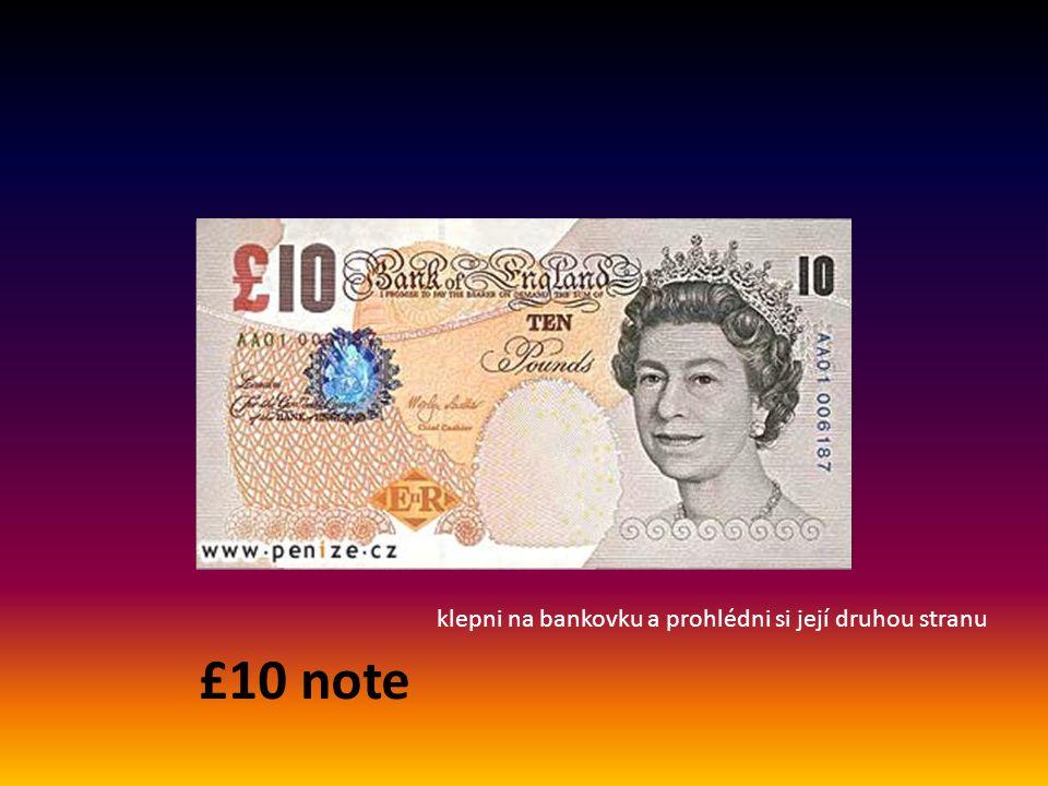 notes = bankovky £5 note klepni na bankovku a prohlédni si její druhou stranu