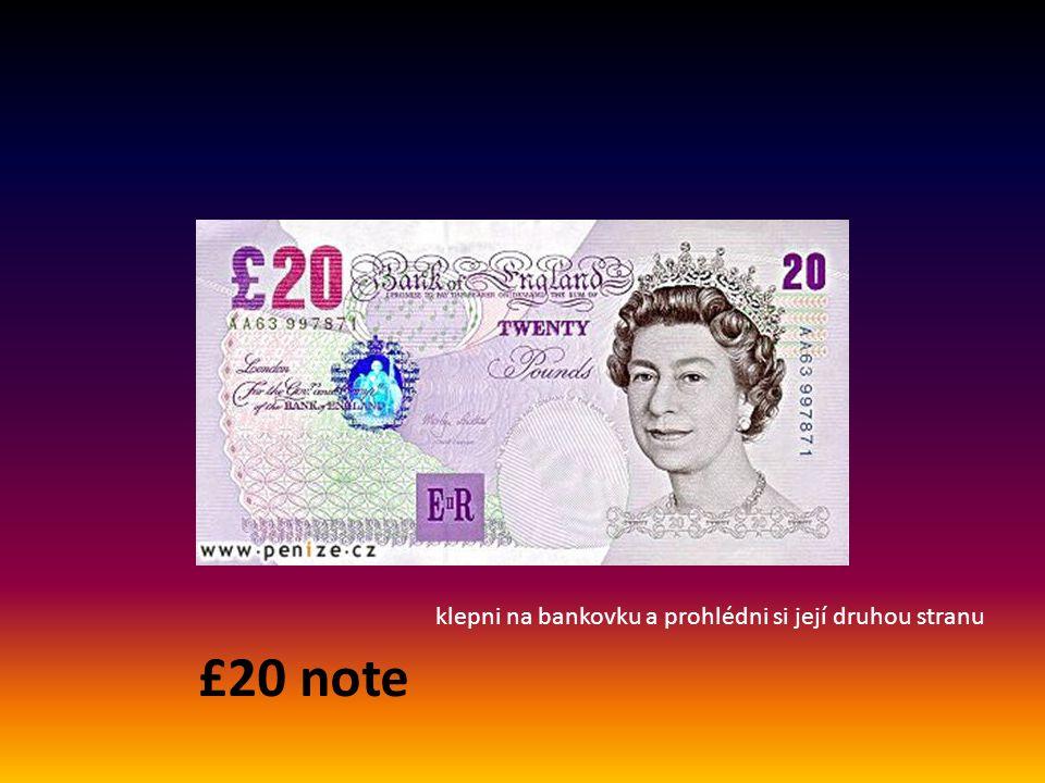 £10 note klepni na bankovku a prohlédni si její druhou stranu