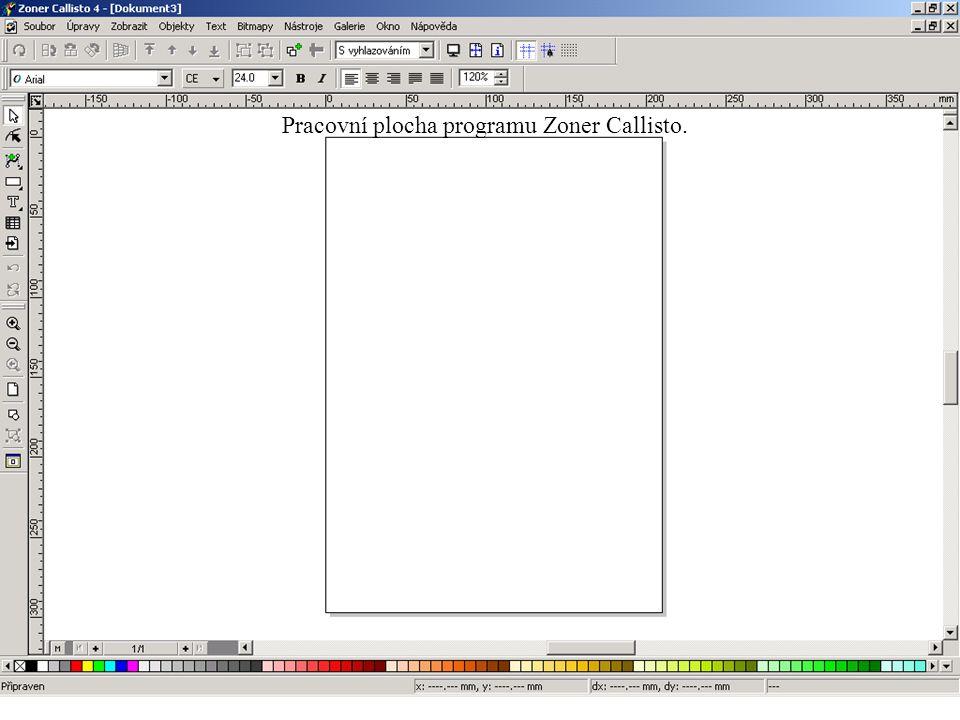 Pracovní plocha programu Zoner Callisto.