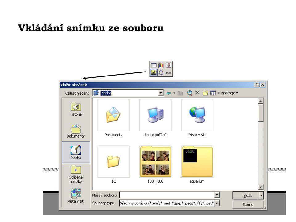 Vkládání snímku ze souboru