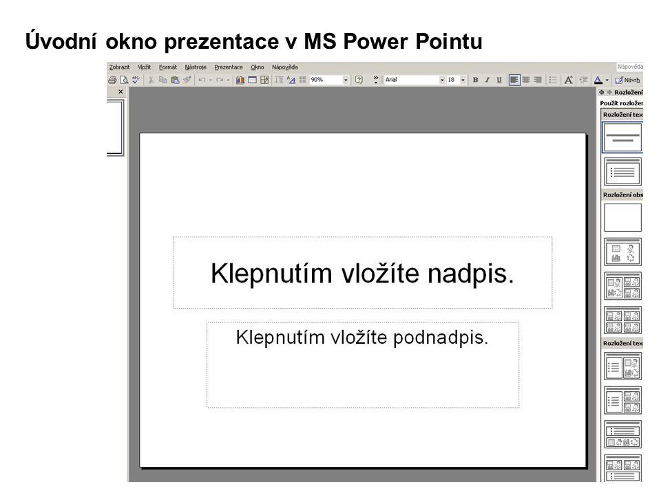 Volba barevné šablony prezentace