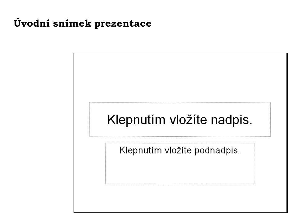 Animace textu na snímku