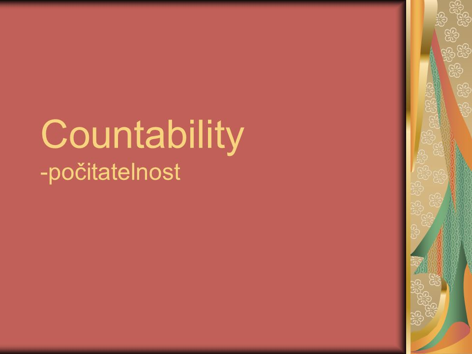 Countability -počitatelnost
