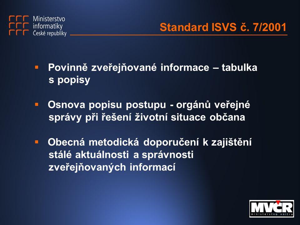 Standard ISVS č.