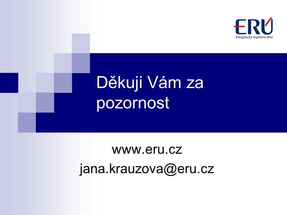Děkuji Vám za pozornost www.eru.cz jana.krauzova@eru.cz