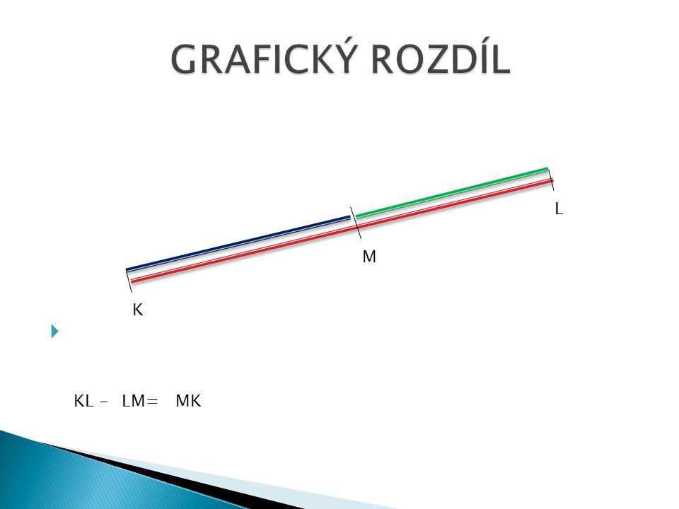  K L M KL -LM=MK