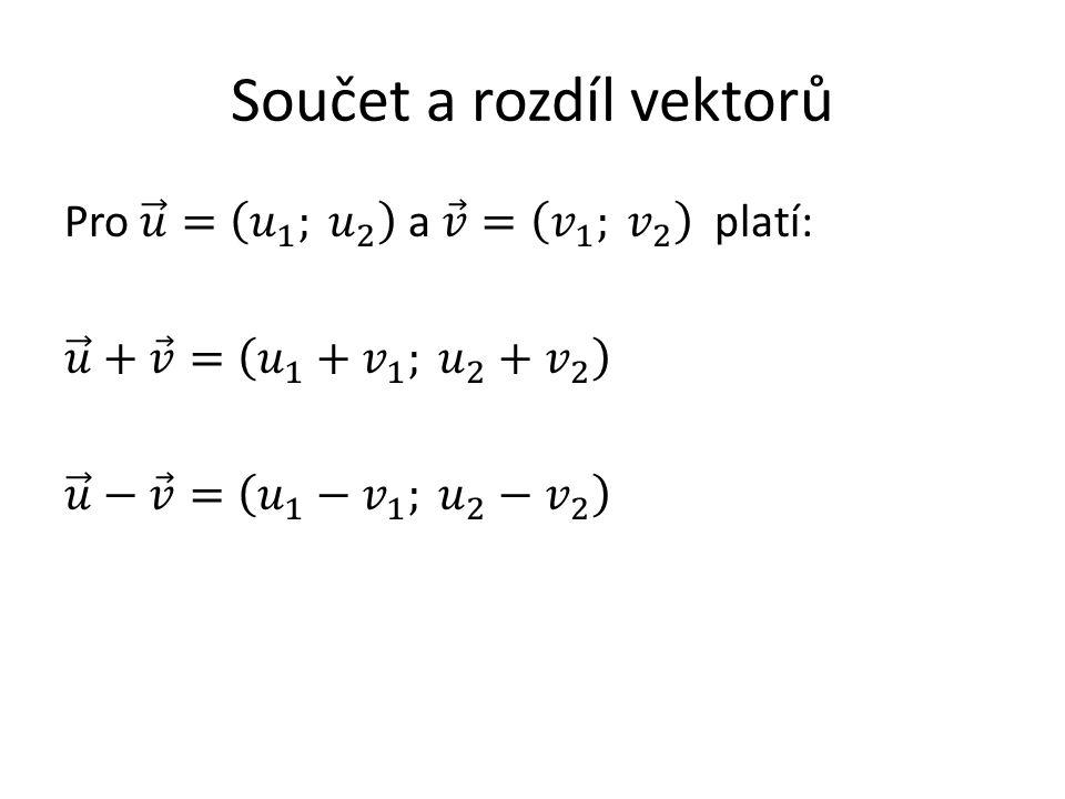 Součet a rozdíl vektorů