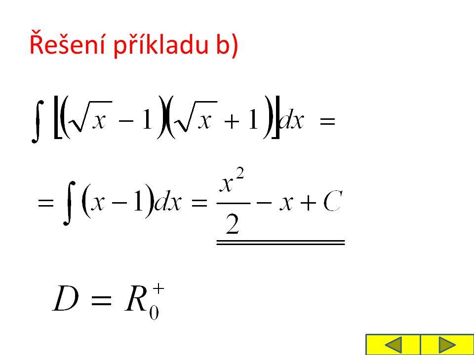 Řešení příkladu b)