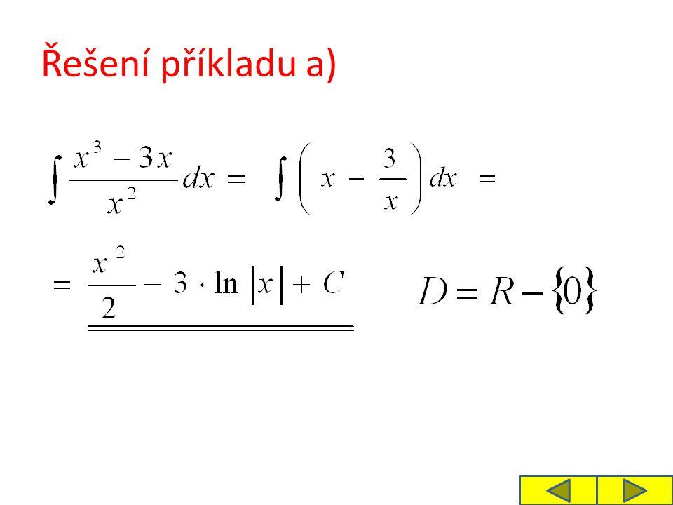 Řešení příkladu a)