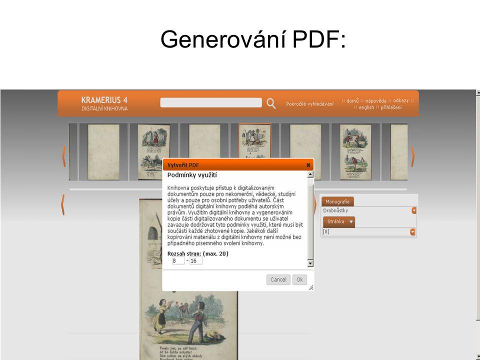 Generování PDF: